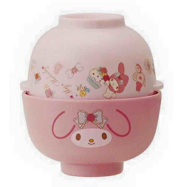 日本 美樂蒂可愛造型茶碗