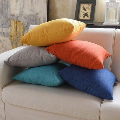 奇奇店-亞麻沙發抱枕靠墊臥室床頭大靠背...