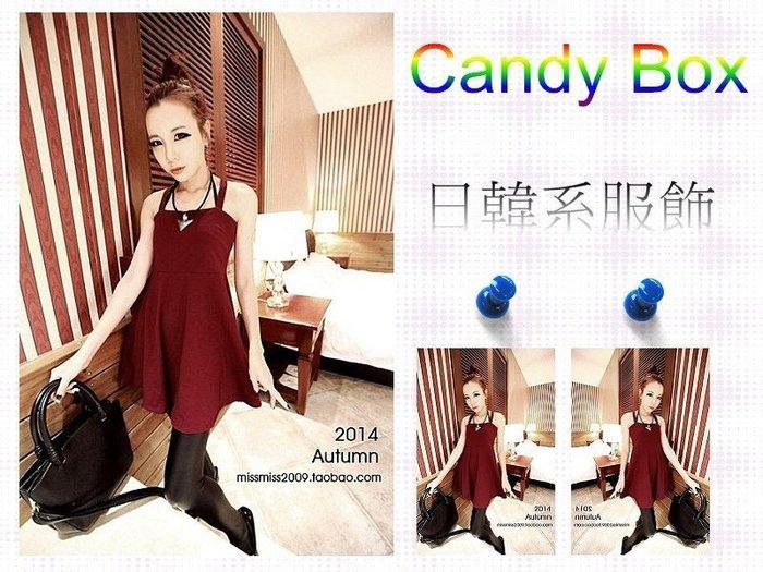 ☆Candy Box☆2014秋裝新款韓版連衣裙 酒紅 Y2921403