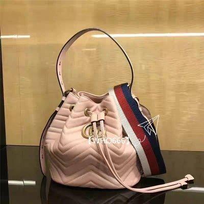 全新專正品 Gucci 476674 GG Marmont quilted leather bucket