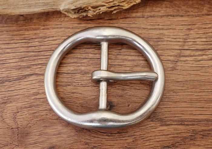 皮帶頭 皮帶扣 純銅 內徑3.8CM  皮帶配件 皮雕 diy solid brass buckle
