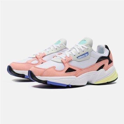 現貨 iShoes正品 Adidas Falcon W 老爹鞋 女鞋 白 橘粉 復古 休閒 經典 運動鞋 EE8937