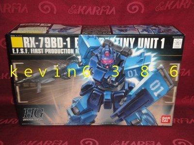 東京都-1/144 HGUC RX-79BD-1 BLUE DESTINY UNIT 1藍色命運1號機(NO:080)