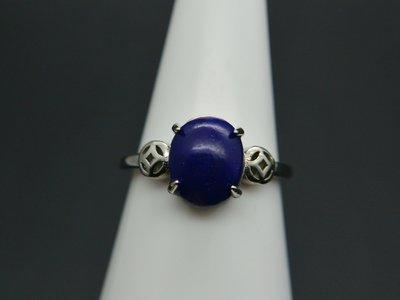 《青金石專區》《戒指》天然青金石Lapis lazuli  戒指 戒子 戒圈#12 (4717)