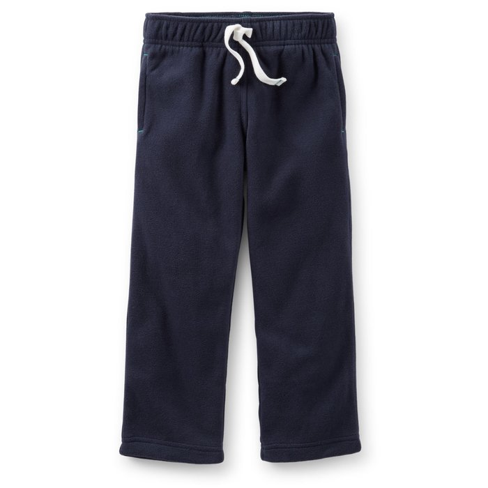 【Nichole's歐美進口優質童裝】Carter's 男童保暖厚款抽繩刷毛長褲 *Old Navy/OshKosh