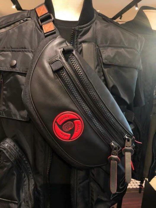 COACH 84707 新款男士腰包 NARUTO寫輪眼圖案胸包 潮流時尚