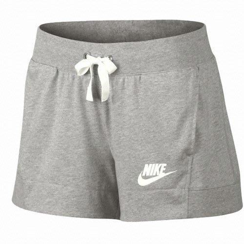 限時特價4折南 2020 6月  Nike Sportwear 女子 慢跑 運動 棉質 灰色 短褲 884363-063