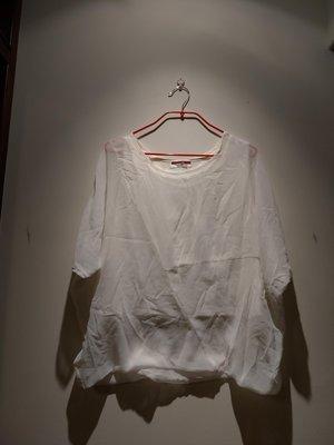 韓國製Make One 's Mark 杏色不對稱設計有內裡雪紡紗上衣(全新僅試穿及下水洗淨)
