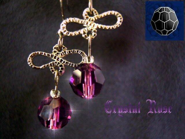 ※水晶玫瑰※ SWAROVSKI 8mm水晶珠 耳勾式針式耳環(DD346)~出清~三對免郵