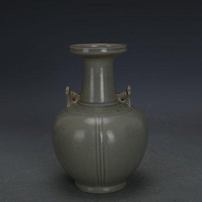 ㊣姥姥的寶藏㊣ 宋代越窯青瓷刻嬰戲圖雙系束口瓶  出土文物古瓷器手工瓷古玩收藏