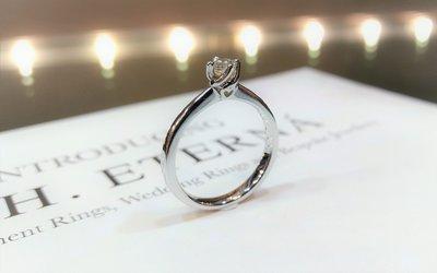 全新18K白金0.17卡真鑽石戒指 | HK12號