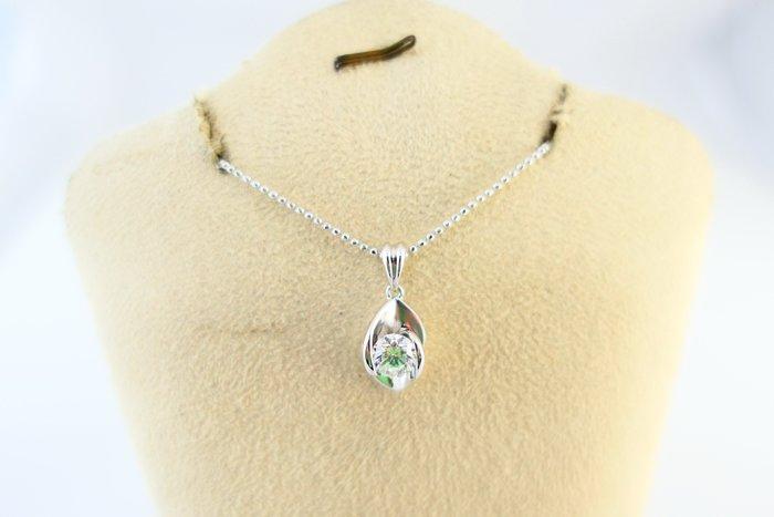 [吉宏精品交流中心]52分 天然鑽石 GIA E/SI1 八心八箭 18白K金 造型 墬子