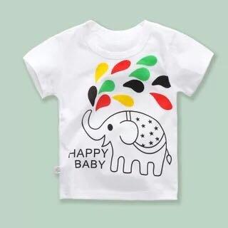 ✿荳荳小舖✿ 現貨⚽ 純棉 噴水象短袖T恤