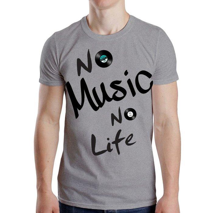 搖滾 No music no life T-shirt 經典音樂文字 純棉T-附唱片包裝