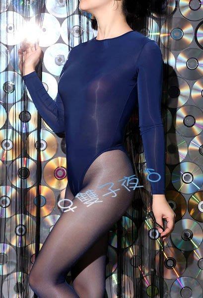 雙子夜【D23】【美體爽滑牛奶絲後拉鏈連身衣】爽滑觸感※男女適穿※