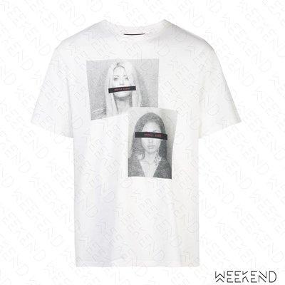 【WEEKEND】 MOSTLT HEARD RARELY SEEN MHRS Mugshot 印圖 寬鬆 T恤 白色