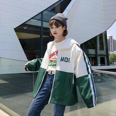 外套女春秋新款韓版bf寬鬆學生工裝風衣...