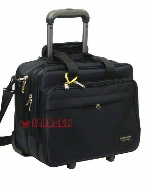 【葳爾登】YESON旅行箱17吋拉桿登機箱電腦包可附掛於行李箱工具箱多夾層公事包92212
