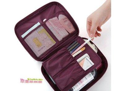 幸運草樂園~韓國便携旅行套裝加厚加大盥洗包 洗漱包出差旅遊 女士防水飛機收纳包化妝包