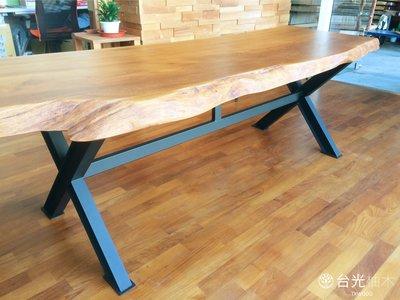 【緬甸柚木-TKWOOD】客製化鐵腳/桌腳/椅腳-X造型