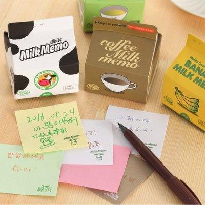 韓版創意Milk Memo鮮奶牛奶盒抽取式便條紙 學生禮品活動贈品-艾發現