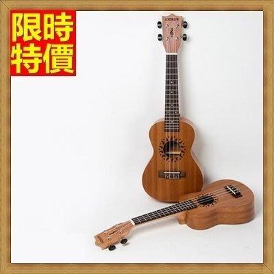 烏克麗麗 ukulele-21吋太陽夏威夷吉他桃花心木合板四弦琴樂器69x15[獨家進口][米蘭精品]