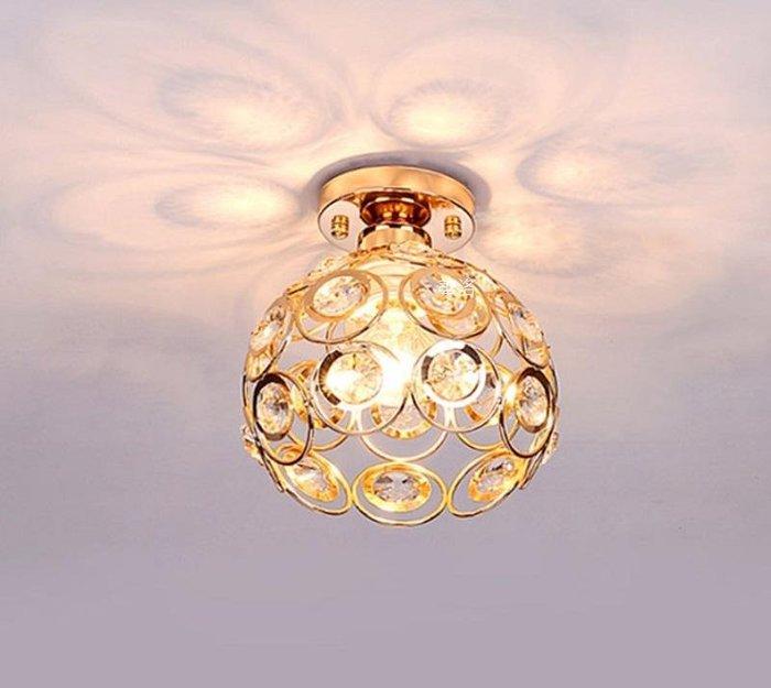 金色低調單吸頂水晶燈,E27燈頭不含燈泡小奢華價僅470元C2020-1GD