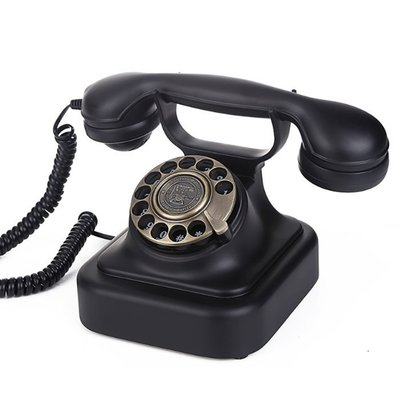 5Cgo【批發】含稅會員有優惠 41406893524 派拉蒙1928歐式復古電話機撥盤固定電話家用辦公座機-旋轉撥盤款