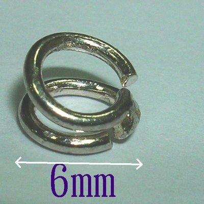 琥珀貓~【925純銀材料配件】扣圈~6mm陰陽圈~一個