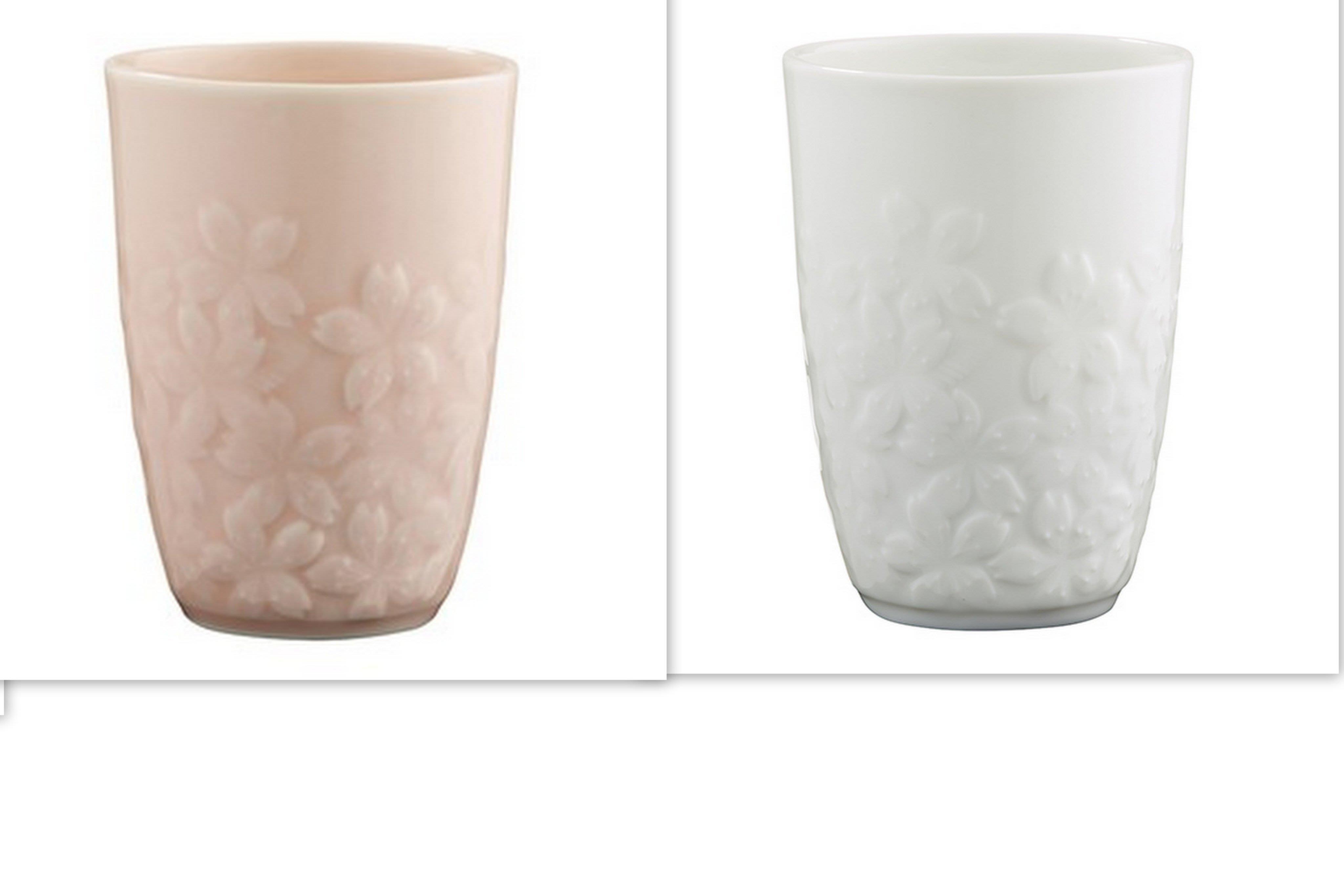 全新Starbucks 限量 星巴克 春季浮雕櫻花杯 (粉+白)