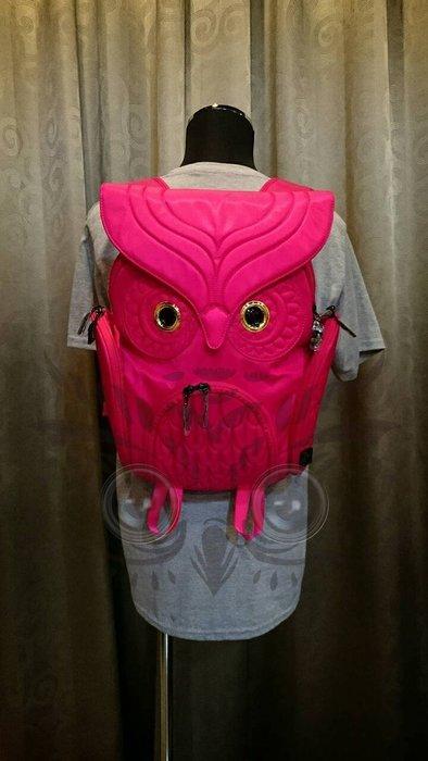 貓頭鷹後背包洋紅色(M) ,實品拍攝有店面,香港潮牌Morn Creations授權🌟最特別的禮物都在奧爾思🌟
