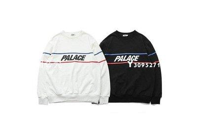 【miya全球購】 Palace Skateboards 18SS DOUBLE RIPE CREW 長袖 TEE 黑色 白色