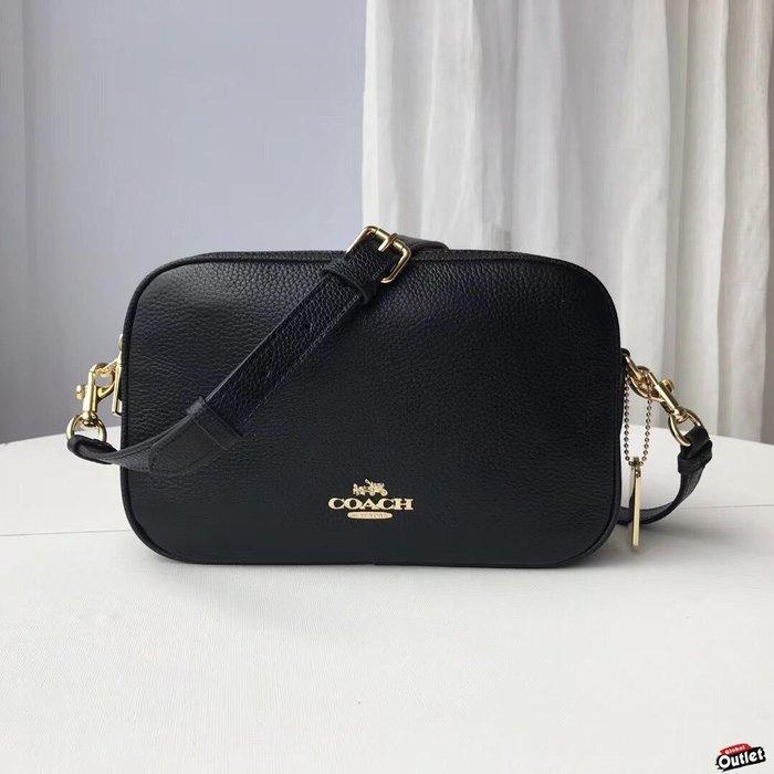 【全球購.COM】COACH 39856 新款女士牛皮雙拉鏈小方包 單肩斜跨包 側背包女包 美國代購