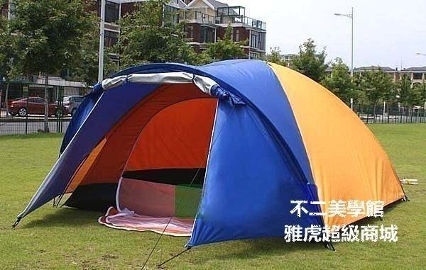 【格倫雅】^一室一廳帳篷 46人帳篷 雙層帳篷 戶外多人帳篷 送 防墊燈 多人2515