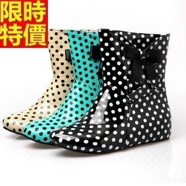 短筒雨靴子 雨具-韓版內增高可愛點點女雨鞋子3色66ak35[獨家進口][米蘭精品]