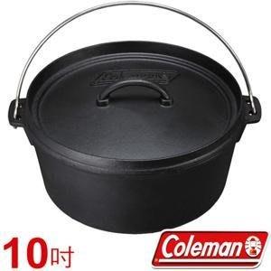 【山野賣客】美國 Coleman SF 荷蘭鍋/10吋 鐵鑄鍋 鑄鐵鍋 烤雞腿 壽喜燒 CM-9392