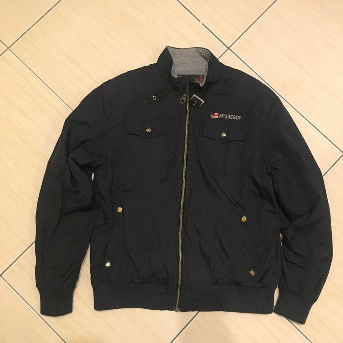 McGregor 瑪格童裝 黑色防風短毛內裡薄夾克-尺寸150