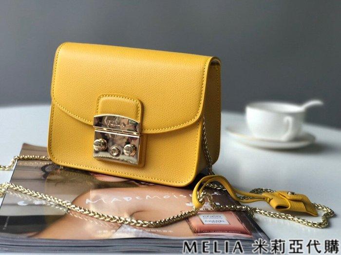 Melia 米莉亞代購 商城特價 數量有限 每日更新 FURLA 經典小方 淑女包 單肩斜背包 素色來襲 蛋黃色