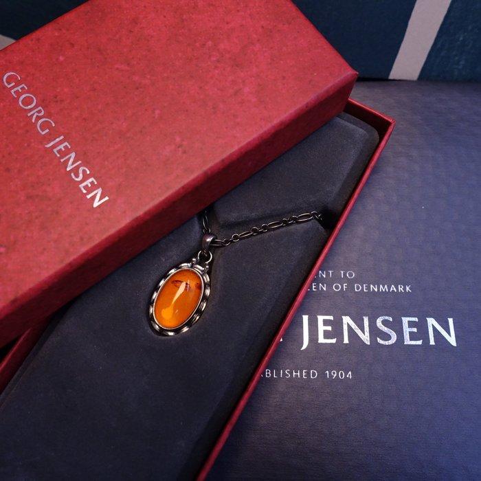 《十九號二手屋》台南喬治傑生專賣店 2001年度項鍊 [琥珀款] GEORG JENSEN GJ