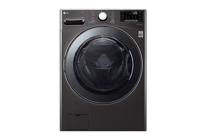 【棋杰電器】LG WD-S19VBS  滾筒式洗衣機/蒸洗脫烘/尊爵黑/19KG【☎ 來電再折扣】