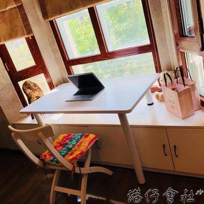 電腦桌 飄窗神器電腦桌居家陽台窗台書桌學生寫字筆記型電腦桌學習桌訂製  (新品)-微利雜貨鋪-可開發票