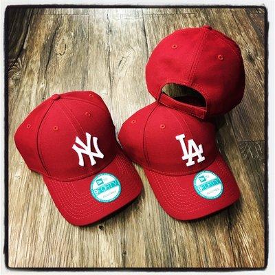 【Dangerous】NEW ERA MLB 紐約洋基/洛杉磯道奇 NY/LA 暗紅酒紅 FORTY 彎帽 魔鬼氈 老帽