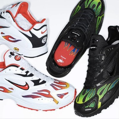 【美國鞋校】預購 Supreme Nike Air Streak Spectrum Plus 黑色 火焰 老鞋  復刻