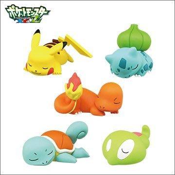 【動漫瘋】 日本正版 扭蛋 神奇寶貝XY 睡夢篇  P3 全5種 販售  皮卡丘 傑尼龜  小火龍 妙蛙種子
