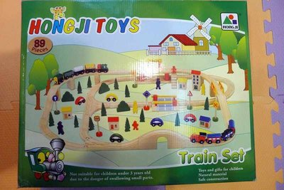 HongJi Toys 櫸木火車軌道組