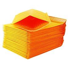 爆款熱銷-牛皮紙信封氣泡袋國際快遞氣泡信封黃色氣泡袋防水袋小包