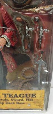 清倉【NECA 】加勒比海盜 老傑克 船長 Capt.Teague 盒裝可動人偶模型 18CM