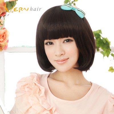 韋恩假髮-自然色-簡約風短髮鮑伯-熱銷推薦款-日本高仿真不打結髮絲Vernhair【VH10932】