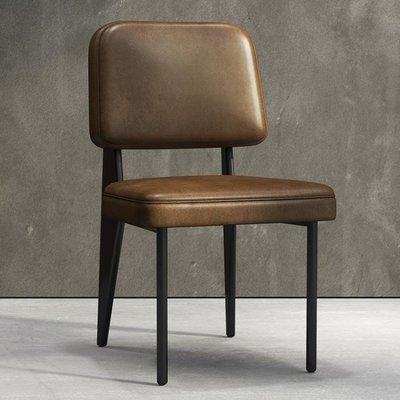 北歐餐椅現代簡約家用靠背創意休閒凳子餐廳咖啡廳電腦辦公皮椅子