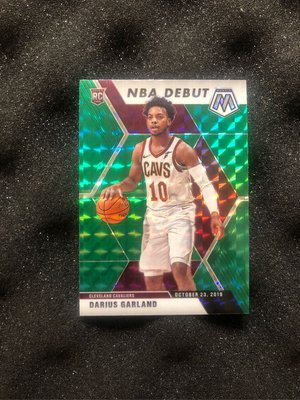 2019-20 MOSAIC DARIUS GARLAND GREEN PRIZM NBA DEBUT #262 ROOKIE RC CAVS